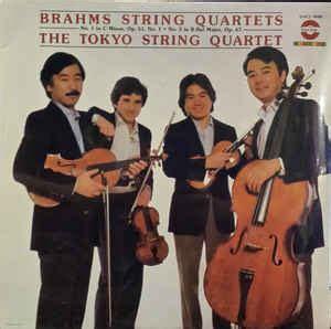brahms tokyo string quartet string quartets