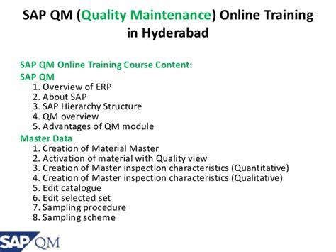 sap qm tutorial pdf sap qm online training specto