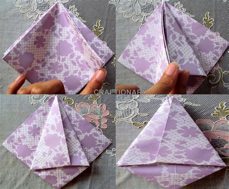 How To Fold A Paper Tulip - craftionary