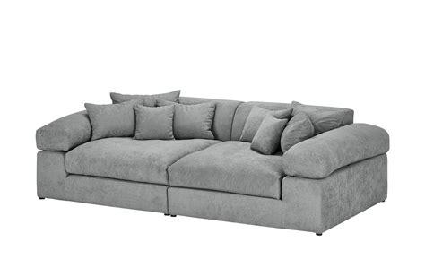 smart big sofa grau flachgewebe lianea silbergrau