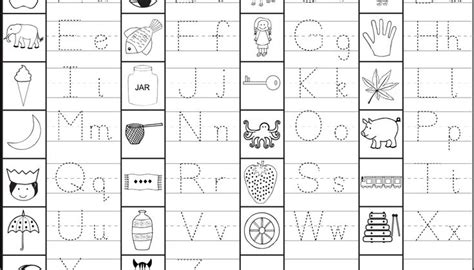 capital small letter tracing worksheet printable capital and small letter tracing worksheet tareas