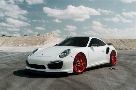 porsche white white porsche 911 turbo s adv07r m v2 cs series
