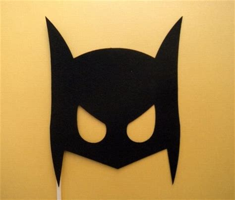 diy batman mask template posh house originals diy costumes simple low cost and