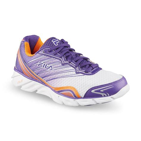 womens fila sneakers fila s t minus purple orange running shoe shoes