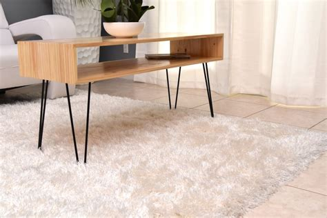 hairpin leg coffee table how to a coffee table with hairpin legs