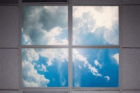 ceiling light panels clouds multi led panel light display w skylenses 174 even glow