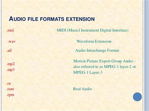 file format for audio audio file format