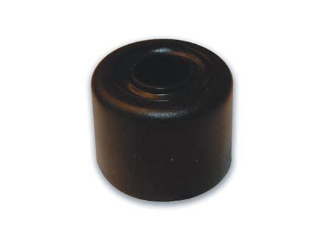 black rubber door stop