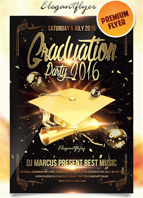 graduation flyer template free printable event flyer templates studio design