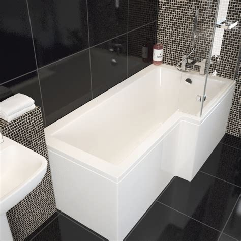l shape shower bath laguna l shape shower bath left handed buy at