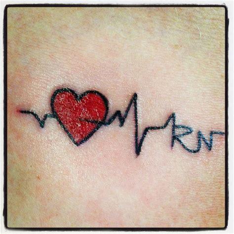 small nurse tattoos best 25 ekg ideas on heartbeat tattoos