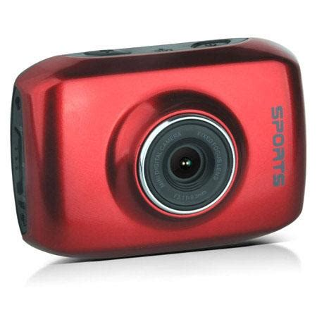 actioncam dvs 1 touchscreen action camera, red dvs 1 red