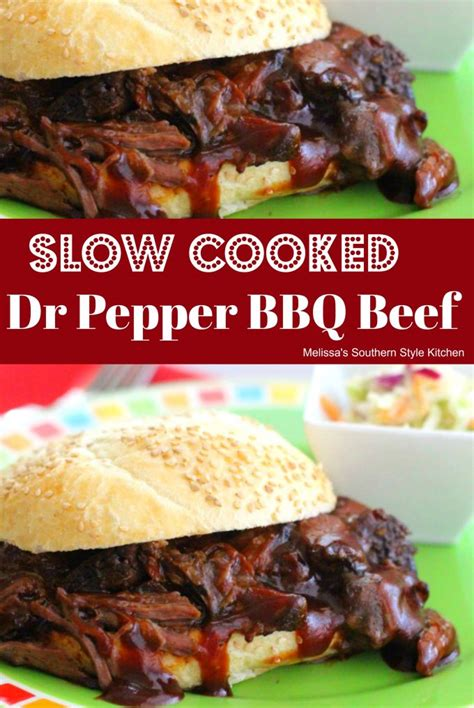 southern comfort and dr pepper slow cooked dr pepper barbecue beef