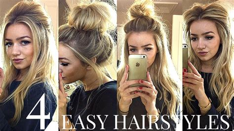 4 back to school heatless hairstyles 4 quick easy heatless school hairstyles youtube