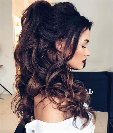 Formal Hairstyles Brown Hair   25 best ideas about romantic hairstyles on pinterest