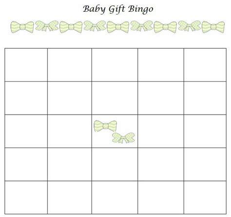 baby gift bingo template baby shower gift bingo free printable