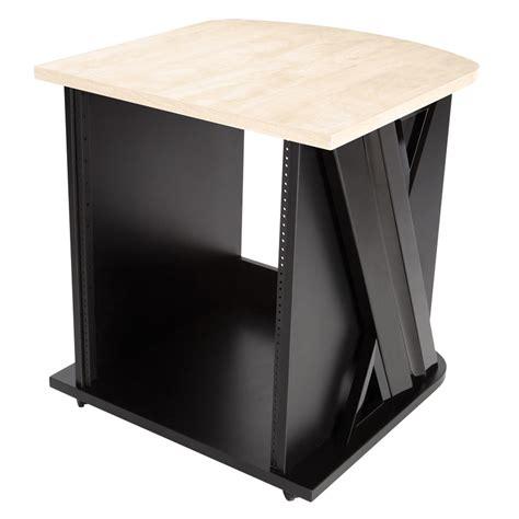 studio trends 30 desk maple studio trends 24 quot sidecar studio rack additional rack space