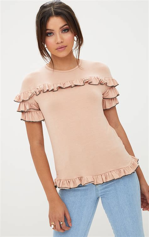 Wst 10712 Palm High Neck Crop Top s tops s shirts blouses prettylittlething