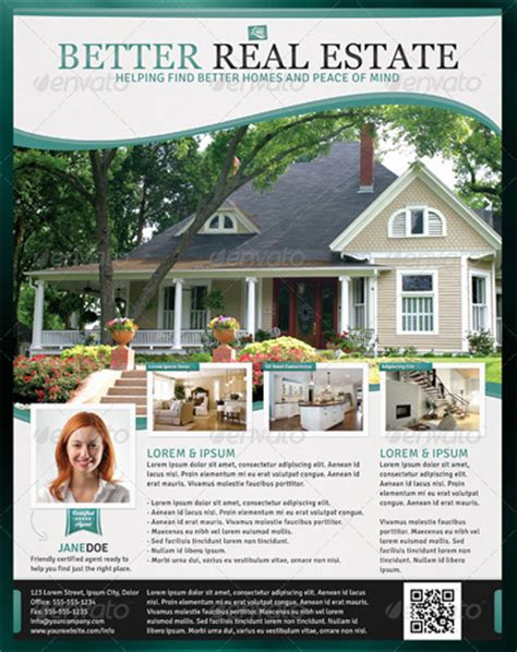 real estate poster template newsletter design ad design and marketing ideas on