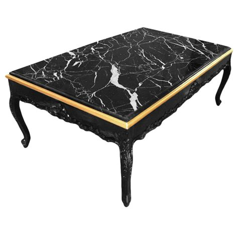 large marble coffee table large coffee table baroque style black shine wood and