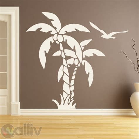Palm Tree Wall Sticker palm trees nature at the beach wall sticker decal