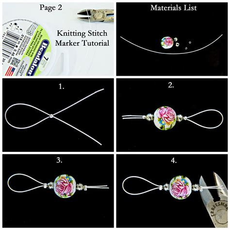 how do you make one stitch in knitting how to make gorgeous stitch markers melody s makings