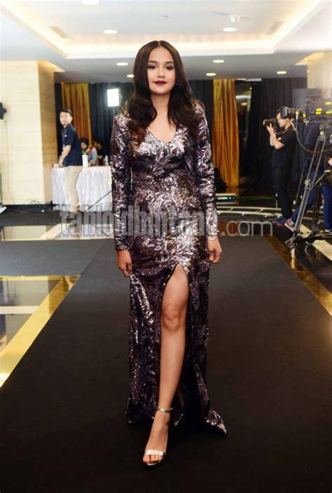Dress Cantika Semi pilihan fashion natal pakaian berbahan sequin yang sedang tren kecantikan