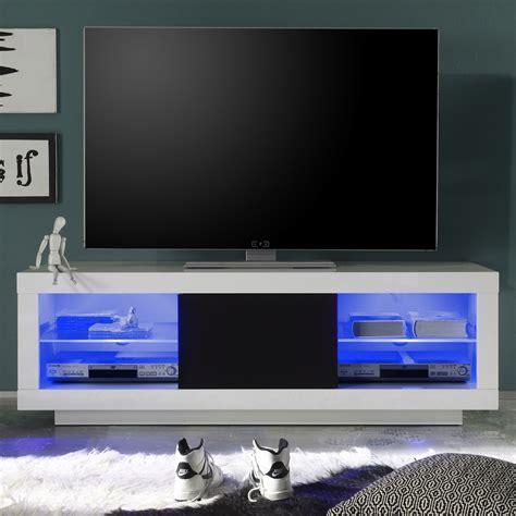 tv schrank schiebetür gelb schwarzes schlafzimmer