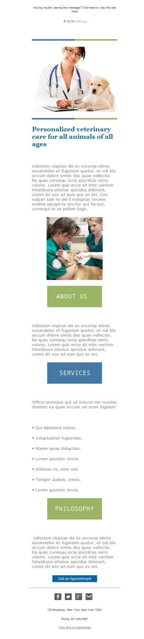 free newsletter template veterinary clinic