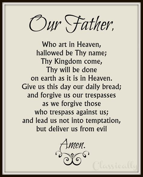 printable version of lord s prayer our father prayer printable catholic print lord s