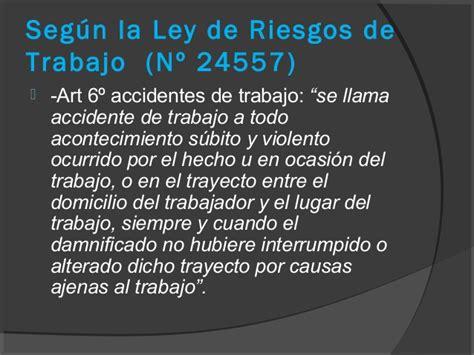 ley de riesgos de trabajo n 24557 monografiascom seguridad