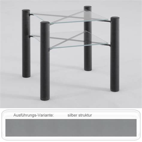 Nachttisch Silber Metall by Nachttisch Fabia 45x43x45 Cm Metall Glas Farbe Nach Wahl