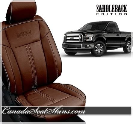 f150 leather seat covers canada 2015 2018 ford f150 saddleback limited edition leather