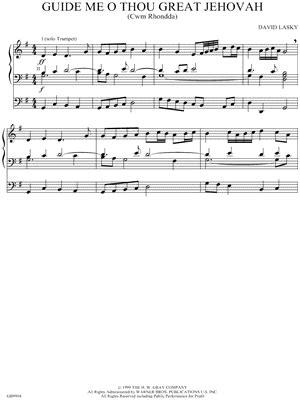 guide me o thou great redeemer wedding hymn david lasky quot guide me o thou great jehovah quot sheet