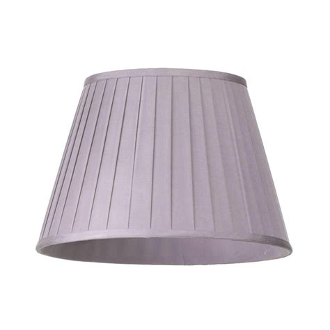 12 inch l shade round easy to fit knife pleated shade 12 inch lavender