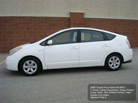 2006 Toyota Prius Mpg Find Used 2006 Toyota Prius Hybrid 1 Owner 50 Mpg Non