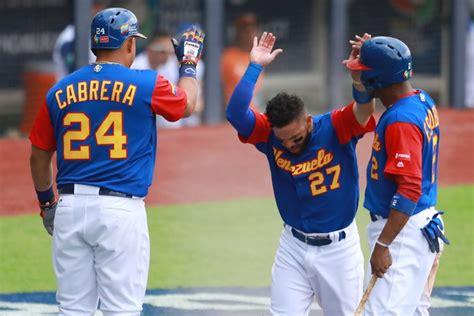 imagenes de venezuela beisbol en fotos as 237 celebr 243 venezuela su primera victoria en el