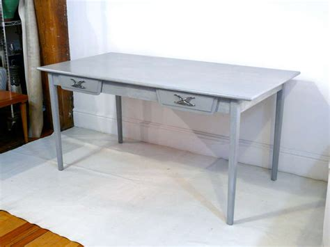 grey cerused writing table or desk at 1stdibs