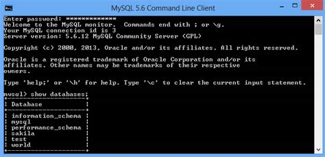 xp mysql command line tutorial installing mysql database on windows 8 learn web tutorials