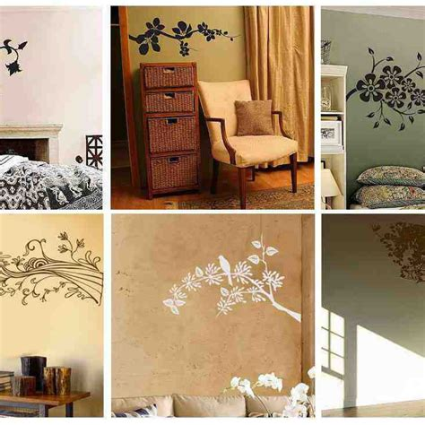 Bedroom Painting Ideas Stencils How To Decorate A Wall Lots Of Ideas Between Stencil And