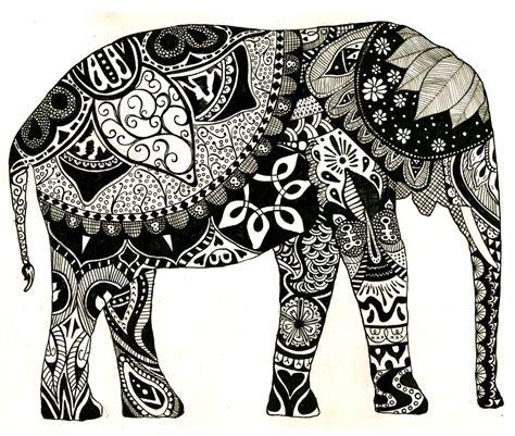 indian elephant doodle elephant drawing free large images