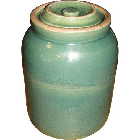 Top 28 Antique Jars Large Antique American Stoneware Scarce Antique Green Salt Glazed Stoneware Pantry Storage