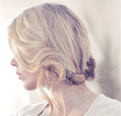 french braid low side side french braid low updo hair tutorial favething com