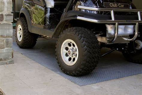 golf cart garage floor mat
