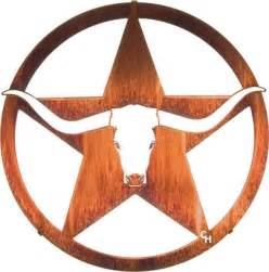 western metal wall art quot lone star longhorn quot 18 quot rustic