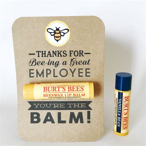 Gift Cards To Employees - employee appreciation gift you re the balm chapstick