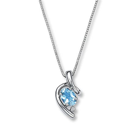 Aquamarine Jewelry by Aquamarine Necklace With Accent Sterling Silver