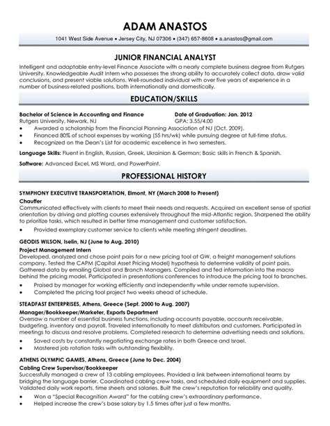 Resume Sles For Recent College Graduates Resume Sle For Fresh Graduate Jennywashere