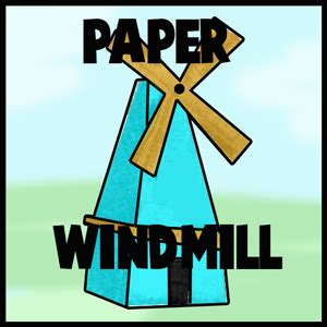 How To Make Paper Windmills - how to make a paper pinwheel paper windmill craft