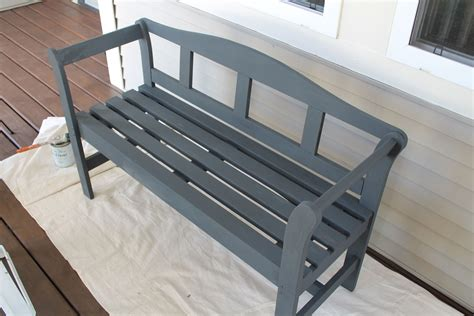 chalk paint bench chalk paint outdoor bench through the common